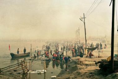 Allahabad C�r�monie sur le Gange